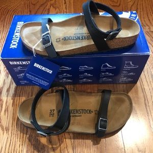 Birkenstock Daloa black 6 narrow new